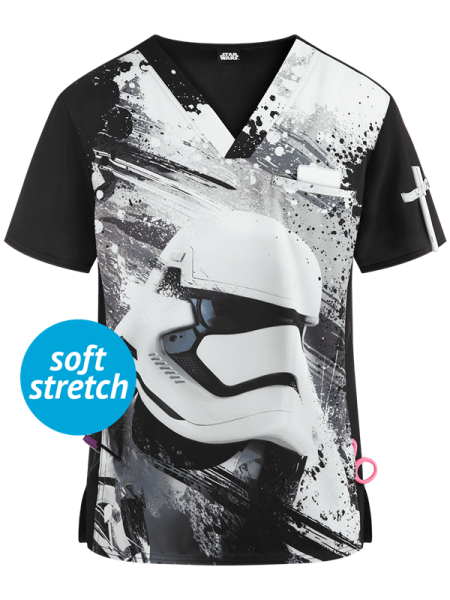 Костюм медицинский мужской Cherokee Tooniforms Star Wars Men's First Order Print