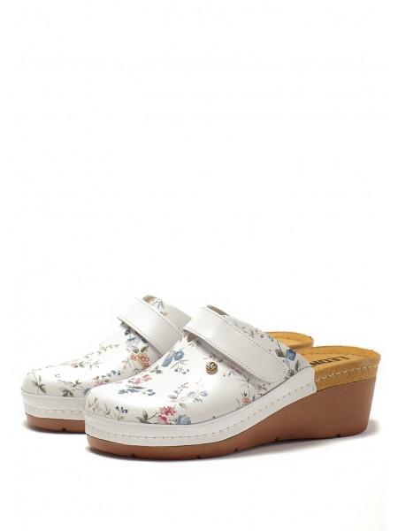 Сабо LEON 1003 (белые цветы)